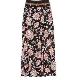 Spódnica bonprix czarny w kwiaty. Czarne długie spódnice bonprix, w kwiaty. Za 79,99 zł.