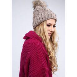Cappuccino czapka damska zimowa C12. Szare czapki damskie Fasardi, na zimę. Za 39,00 zł.