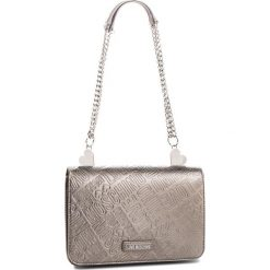 Torebka LOVE MOSCHINO - JC4241PP06KF0910 Peltro. Szare torebki klasyczne damskie marki Love Moschino, ze skóry ekologicznej. Za 839,00 zł.