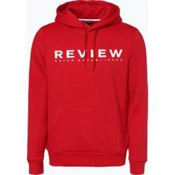 Review - Męska bluza nierozpinana, czerwony. Czerwone bluzy męskie rozpinane Review, l, z nadrukiem, z kapturem. Za 129,95 zł.