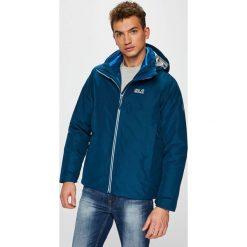Jack Wolfskin - Kurtka. Niebieskie kurtki męskie pikowane marki Jack Wolfskin, l, z materiału, z kapturem. W wyprzedaży za 899,90 zł.