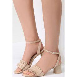 Beżowe Sandały Want Me Too. Brązowe sandały damskie vices, na wysokim obcasie. Za 69,99 zł.