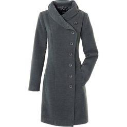 Płaszcz bonprix antracytowy melanż. Szare płaszcze damskie bonprix, melanż. Za 189,99 zł.