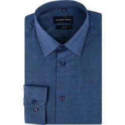 Koszula SIMONE KDNS000296. Niebieskie koszule męskie na spinki marki bonprix, m, z nadrukiem, z klasycznym kołnierzykiem, z długim rękawem. Za 149,00 zł.