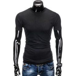 T-shirty męskie: T-SHIRT MĘSKI BEZ NADRUKU S884 – CZARNY