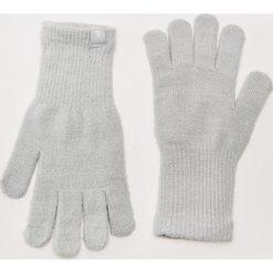 Rękawiczki damskie: Rękawiczki z błyszczącą nitką - Jasny szar