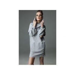 Sukienka Holey Freak - szara. Czarne sukienki dzianinowe marki Sinsay, l, z kapturem. Za 289,00 zł.