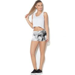 Spodnie damskie: Colour Pleasure Spodnie damskie CP-020 33 biało-czarne r. XL/XXL