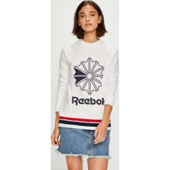Reebok Classic - Bluza. Czarne bluzy męskie rozpinane marki TOMMY HILFIGER, l, z aplikacjami, z bawełny, bez kaptura. Za 229,90 zł.