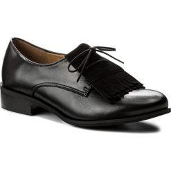 Oxfordy SAGAN - 2862 Czarny Lico. Czarne jazzówki damskie marki Sagan, ze skóry, na obcasie. W wyprzedaży za 229,00 zł.