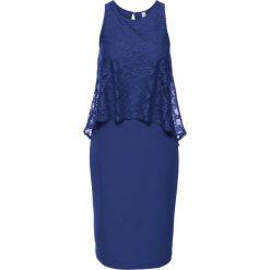 Sukienki hiszpanki: Sukienka z koronką bonprix kobaltowy