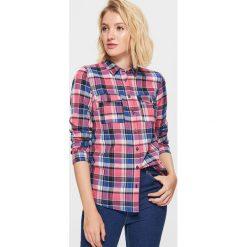 Koszula w kratę - Różowy. Czerwone koszule wiązane damskie Cropp, l. Za 49,99 zł.