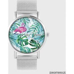 Zegarki damskie: Zegarek - Flaming, tropikalny - metalowy