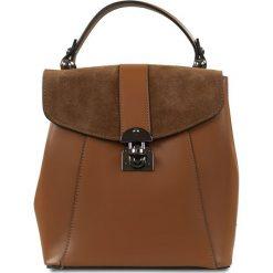 """Plecaki damskie: Skórzany plecak """"Naima"""" w kolorze brązowym – 21 x 22 x 12 cm"""