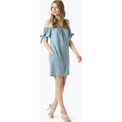 Superdry - Sukienka damska, niebieski. Szare sukienki na komunię marki Superdry, l, z nadrukiem, z bawełny, z okrągłym kołnierzem. Za 229,95 zł.