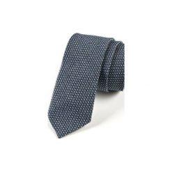 Krawat męski  JEDWAB KWADRAT. Niebieskie krawaty męskie HisOutfit, z jedwabiu. Za 129,00 zł.
