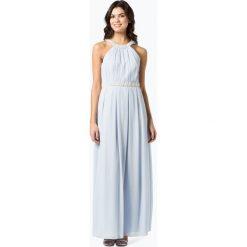 Marie Lund - Damska sukienka wieczorowa, niebieski. Niebieskie sukienki balowe Marie Lund, z aplikacjami, z szyfonu. Za 699,95 zł.