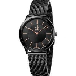 ZEGAREK CALVIN KLEIN Minimal K3M22421. Czarne zegarki męskie marki Calvin Klein, szklane. Za 1169,00 zł.