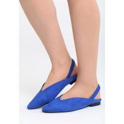 Baleriny damskie: Niebieskie Balerinki Begin With