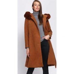 Brązowy Płaszcz Neutrals. Brązowe płaszcze damskie pastelowe Born2be, na zimę, l. Za 359,99 zł.
