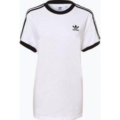 Adidas Originals - T-shirt damski, czarny. Czarne t-shirty damskie adidas Originals, z kontrastowym kołnierzykiem. Za 129,95 zł.