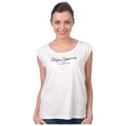 Pepe Jeans T-Shirt Damski Linda M Kremowy. Białe t-shirty damskie marki Pepe Jeans, m, z jeansu. W wyprzedaży za 94,00 zł.
