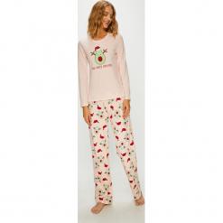 Answear - Piżama. Szare piżamy damskie ANSWEAR, l, z nadrukiem, z bawełny. Za 119,90 zł.