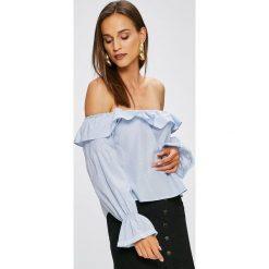 Trendyol - Bluzka. Szare bluzki nietoperze marki Trendyol, z bawełny, casualowe, z dekoltem w łódkę. W wyprzedaży za 59,90 zł.