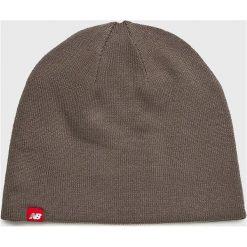 New Balance - Czapka. Szare czapki zimowe damskie New Balance, na zimę, z dzianiny. W wyprzedaży za 84,90 zł.