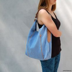 Torebki i plecaki damskie: FURIA – torba worek -niebieska