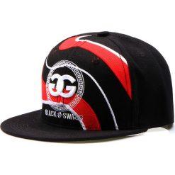 Czapka męska snapback czarna (hx0220). Czarne czapki z daszkiem męskie marki Dstreet, z haftami, eleganckie. Za 69,99 zł.