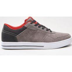 Buty skate męskie: Skórzane buty sportowe - Jasny szary