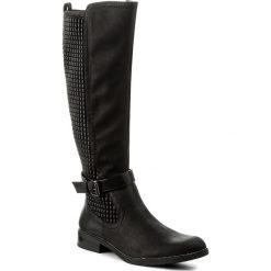 Oficerki JENNY FAIRY - LS3523-15 Czarny. Czarne buty zimowe damskie marki Jenny Fairy, ze skóry ekologicznej, na obcasie. Za 159,99 zł.