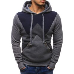 Bluzy męskie: Bluza męska z kapturem szara (bx1150)