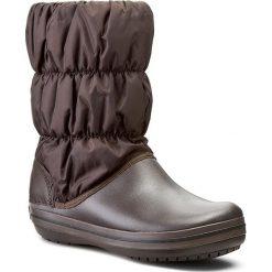 Śniegowce CROCS - Winter Puff 14614 Espresso/Espresso. Brązowe buty zimowe damskie marki Crocs, z materiału. W wyprzedaży za 219,00 zł.