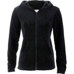 Bluzy polarowe: Bluza z polaru z kapturem bonprix czarny