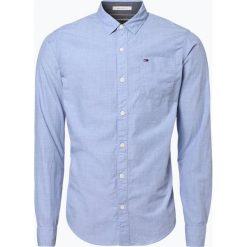 Tommy Jeans - Koszula męska, niebieski. Niebieskie koszule męskie jeansowe marki Tommy Jeans, m. Za 349,95 zł.