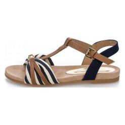 Tom Tailor Sandały Damskie 37 Ciemny Niebieski. Niebieskie sandały damskie marki Tom Tailor, w paski. W wyprzedaży za 159,00 zł.