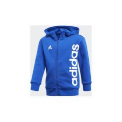 Bluzy dresowe Dziecko adidas  Bluza z kapturem Little Kids Full Zip Hoodie. Niebieskie bluzy chłopięce rozpinane Adidas, z dresówki, z kapturem. Za 139,00 zł.