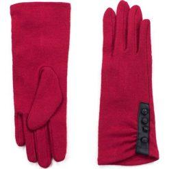 Rękawiczki damskie: Art of Polo Rękawiczki damskie długie z guziczkami czerwone  r. 7.5 (rk15353)