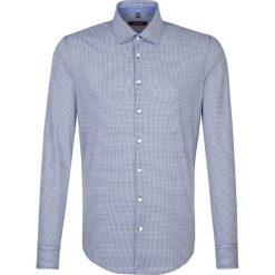 Koszule męskie na spinki: Koszula – Slim fit – w kolorze biało-granatowym