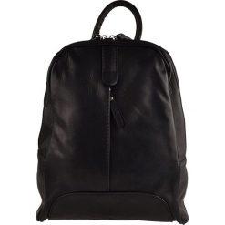 Plecaki damskie: Skórzany plecak w kolorze czarnym – 25 x 32 x 10 cm