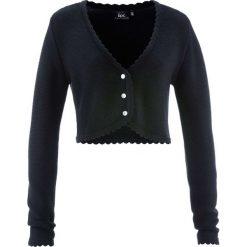 Swetry rozpinane damskie: Sweter rozpinany ludowy bonprix czarny