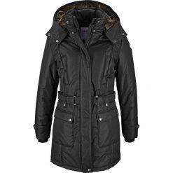 Płaszcz zimowy bonprix czarny. Czarne płaszcze damskie pastelowe bonprix, na zimę. Za 239,99 zł.