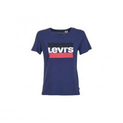 T-shirty z krótkim rękawem Levis  THE PERFECT TEE SPORTSWEAR. Niebieskie t-shirty damskie Levi's®, l. Za 95,20 zł.