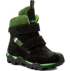 Buty zimowe chłopięce: Śniegowce BARTEK – 24395-B1A Czarno Zielony
