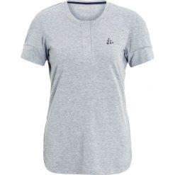 Craft RIDE Tshirt basic grey melange. Szare topy sportowe damskie marki Craft, m, z elastanu. W wyprzedaży za 146,30 zł.
