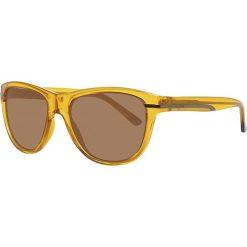 Okulary przeciwsłoneczne męskie: Okulary męskie w kolorze pomarańczowo-brązowym