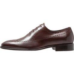Florsheim CURTIS Eleganckie buty dark brown. Brązowe buty wizytowe męskie Florsheim, z materiału, na sznurówki. Za 879,00 zł.