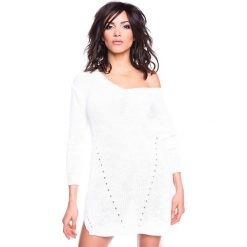 """Sukienki hiszpanki: Sukienka """"Ness"""" w kolorze białym"""